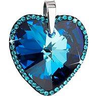 Bermuda blue prívesok zdobený kryštálmi Swarovski 34138.5 (925/1000; 12,3 g) - Prívesok