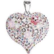 Magic rose prívesok srdce zdobený krštáľmi Swarovski 34181.3 (925/1000, 7,6 g) - Prívesok