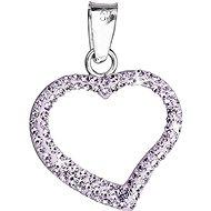 SWAROVSKI ELEMENTS Violet prívesok srdce dekorovaný kryštálmi 34093.3 (925/1000; 6,2 g) - Prívesok
