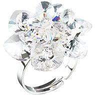 SWAROVSKI ELEMENTS Prsteň dekorovaný kryštáľmi Swarovski Krystal 35012.1 (925/1000; 6,6 g) vel. 53-60 - Prsteň