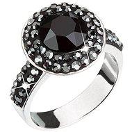 Prsteň dekorovaný krištáľmi Swarovski Hematite 35019.5 (925 / 1000; 5,1 g) veľ. 52 - Prsteň