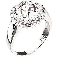 Prsteň zdobený kryštálmi Swarovski Krystal 35026.1 (925/1000; 4,8 g) veľ. 56 - Prsteň