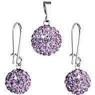 Bižutérna súprava s kamienkami 59072.3 Violet - Módna darčeková súprava
