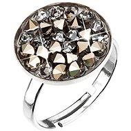 Metalic light gold prsteň vyrobený s krištáľmi Swarovski 35033.5 - Prsteň
