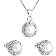 EVOLUTION GROUP 29004.1 strieborná perlová súprava s retiazkou - Darčeková sada šperkov