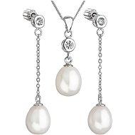 EVOLUTION GROUP 29005.1 strieborná perlová súprava s retiazkou - Darčeková sada šperkov