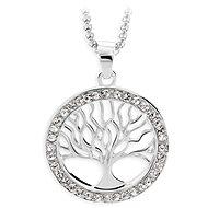 JSB Bijoux Náhrdelník Strom života s krištáľovými kameňmi Swarovski® (biely) - Náhrdelník