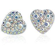 JSB Bijoux Náušnice Srdiečka s krištáľovými kameňmi Swarovski® - Náušnice