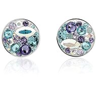 JSB Bijoux Strieborné náušnice Extramix Purple zdobené krištáľovými kameňmi Swarovski® - Náušnice