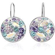 JSB Bijoux Strieborné náušnice Rivoli Extramix Purple zdobené krištáľovými kameňmi Swarovski® - Náušnice