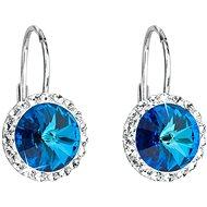 EVOLUTION GROUP 31216.5 bermuda blue náušnice dekorované krystaly Swarovski® (925/1000, 1 g)