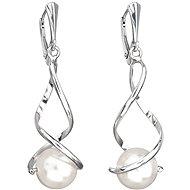 EVOLUTION GROUP 31224.1 biele náušnice dekorované perlou Swarovski® (925/1000, 4,5 g) - Náušnice