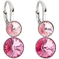 EVOLUTION GROUP 31233.3 růžová náušnice dekorované krystaly Swarovski® (925/1000, 2,8 g)