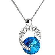 EVOLUTION GROUP 32048.5 bermuda blue náhrdelník dekorovaný krystaly Swarovski® (925/1000, 1,8 g) - Náhrdelník