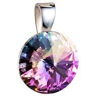 EVOLUTION GROUP 34112.5 okrúhly-rivoli dekorovaný kryštálmi Swarovski ® (925/1000, 1 g, fialový) - Prívesok