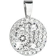 EVOLUTION GROUP 34225.1 okrúhly dekorovaný kryštálmi Swarovski ® (925/1000, 1 g, biely)