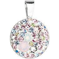 EVOLUTION GROUP 34225.3 magic rose okrúhly dekorovaný kryštálmi Swarovski ® (925/1000, 1 g, mix farieb)