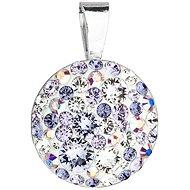EVOLUTION GROUP 34225.3 violet okrúhly dekorovaný kryštálmi Swarovski ® (925/1000, 0,7 g, fialový)