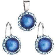 EVOLUTION GROUP 39091.3 svetlo modrá súprava dekorovaná kryštálmi Swarovski® (925/1000, 2 g) - Darčeková sada šperkov
