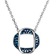 EVOLUTION GROUP 32016.5 metalic blue náhrdelník dekorovaný krystaly Swarovski® (925/1000, 4 g) - Náhrdelník