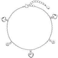 Bracelet EVOLUTION GROUP 33114.1 Decorated with Heart-shaped Swarovski® Crystals (925/1000, 2.5g)