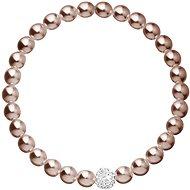 EVOLUTION GROUP 33115.3 bronzový perličkový náramok dekorovaný kryštálmi Swarovski® - Náramok