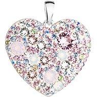 EVOLUTION GROUP 34243.3 ružový prívesok dekorovaný kryštálmi Swarovski® magic rose (925/1000, 2 g) - Prívesok