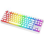 SPC Gear GK630K Onyx White Tournament Kailh Blue – US - Herná klávesnica