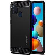 Kryt na mobil Spigen Rugged Armor Black Samsung Galaxy A21s - Kryt na mobil