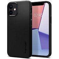 Spigen Thin Fit Black iPhone 12 mini - Kryt na mobil