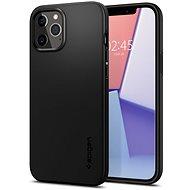 Spigen Thin Fit Black iPhone 12/iPhone 12 Pro - Kryt na mobil