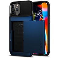 Spigen Slim Armor Wallet Navy iPhone 12 Pro Max - Kryt na mobil