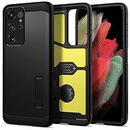 Kryt na mobil Spigen Tough Armor Black Samsung Galaxy S21 Ultra - Kryt na mobil
