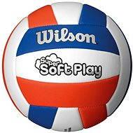 Wilson Super Soft Play Volleyball Red white blue - Volejbalová lopta