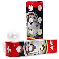 Salming Aero+ Ball 4-pack Bílý - Florbalová loptička