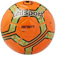 Uhlsport Infinity Team – fluo red/fluo green/black – veľ. 5 - Futbalová lopta