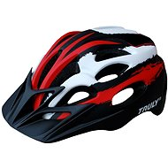 Cyklo prilba TRULY FREEDOM veľ. M red/black/white - Prilba na bicykel