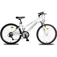 "Olpran MTB Falcon Sus dievčenské bielo / zelené - Detský bicykel 24"""