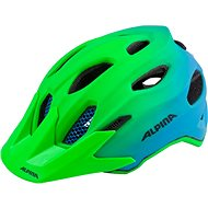 Alpina Carapax Jr. Flash green-blue M - Prilba na bicykel