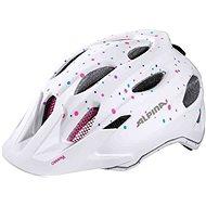 Alpina Carapax Jr, White-Polka Dots, size M - Bike helmet