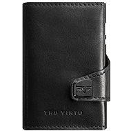 Tru Virtu Click and Slide – leather Nappa Black - Peňaženka