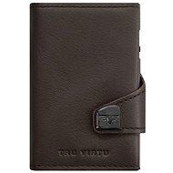 Tru Virtu Click and Slide – leather Nappa Brown - Peňaženka