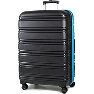 Rock TR-0164/3-L PP – čierna/modrá - Cestovný kufor s TSA zámkom