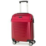 ROCK TR-0166/3-S ABS/PES – červená - Cestovný kufor s TSA zámkom