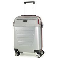 ROCK TR-0166/3-S ABS/PES – strieborná - Cestovný kufor s TSA zámkom