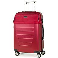 ROCK TR-0166/3-M ABS/PES – červená - Cestovný kufor s TSA zámkom