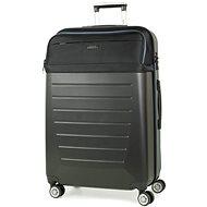 ROCK TR-0166/3-L ABS/PES – čierna - Cestovný kufor s TSA zámkom