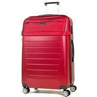 ROCK TR-0166/3-L ABS/PES – červená - Cestovný kufor s TSA zámkom