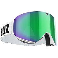 Bliz Flow – White – Brown w Green Multi - Lyžiarske okuliare