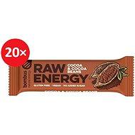 BOMBUS Raw energy-Cocoa beans 50 g 20 ks - Raw tyčinka